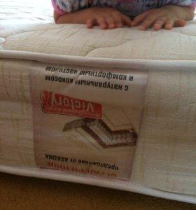 Кровать+ортопедическое основание+ матрац