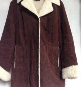 Куртка вельветовая коричневая