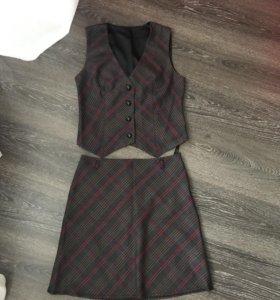 Костюм (юбка+жилетка)