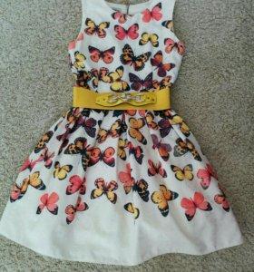 Красивое платье на девочку 10-12 лет