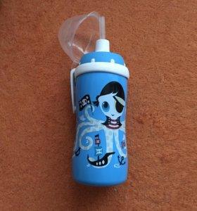 NUK бутылка-поильник с трубочкой