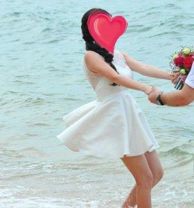 Платье свадебное,трансформер,с пышной юбкой
