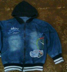 Джинсовая ветровка- куртка