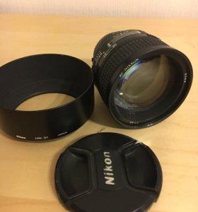 Объектив Nikon Nikkor af 85mm f/1.4 d