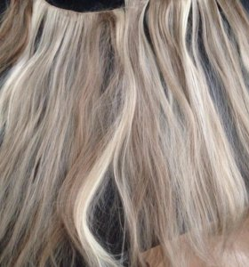 Волосы на заколках (трессах)