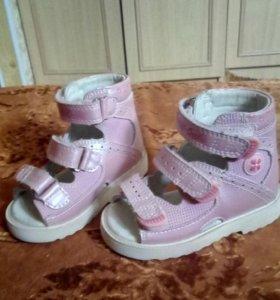Продам детскую ортопедическую обувь из нат. кожи