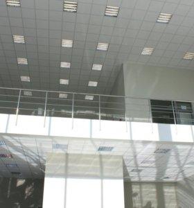 Потолок Армстронг, Грильято монтаж, установка.