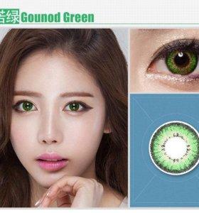 Линзы зеленые