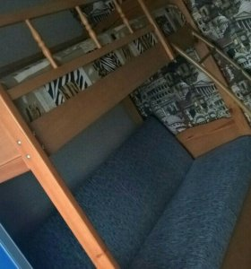 Двухъярусная кровать + диван.