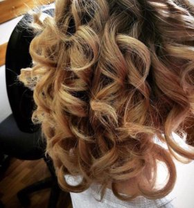 Причёски локоны
