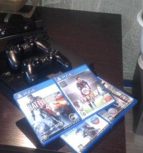 Продаю Sony PlayStation 4 500 Gb+игры и камера
