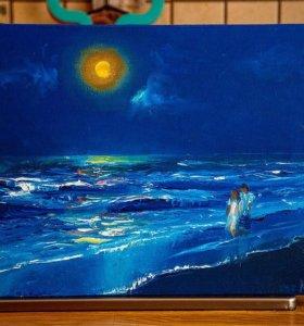 Картина, холст на подрамнике, масло, 30×40 см.