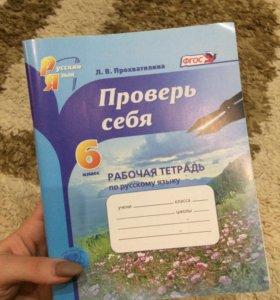 Рабочая тетрадь по русскому,6 класс