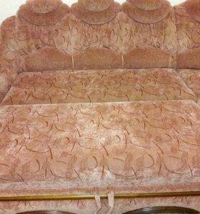 Угловой тканевой диван 275 см×195 см