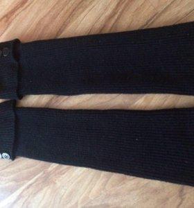 Гетры вязанные черные