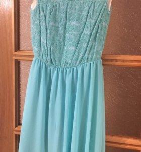 Платье в цвете Тифанни