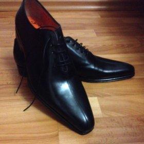 Мужские туфли ботинки новые Марка Santoni Derbi