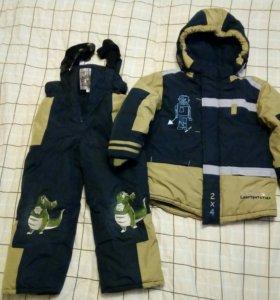Комплект зимний ( полукомбез +куртка) р.104-110