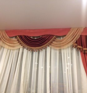 Комплект штор с ламбрекенами