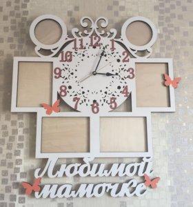 Часы декоративные из дерева