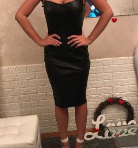 Кожаное платье Love Republic новое с биркой