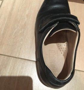 Туфли кожаные школьные