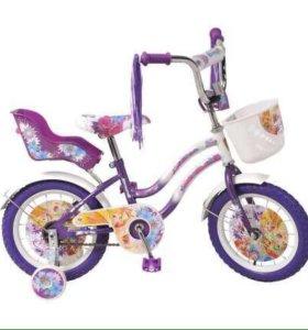 Новый велосипед winx