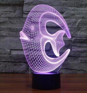 Ночник 3Д светильник рыбка