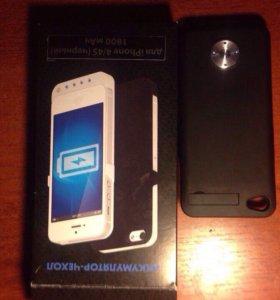 Чехол-зарядка на iPhone 4/4s