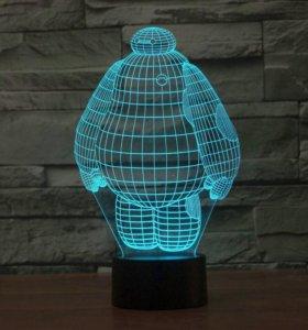 ночник Беймакс 3Д светильник