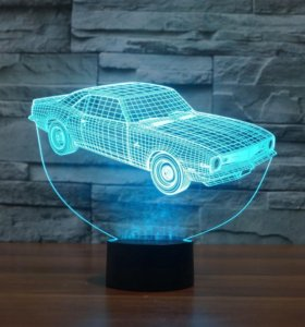 Ночник Тачка 3Д светильник