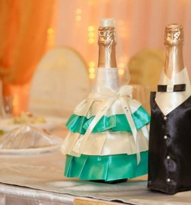 одежда на бутылки для шампанского