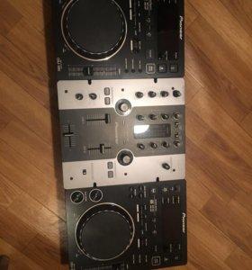 DJ pioneer комплект cdj 350 + пульт dmj 250