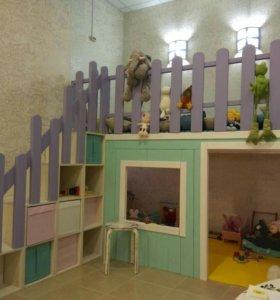 Детская мебель домик-кровать игровая