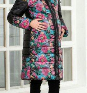Пальто пуховик куртка для беременной