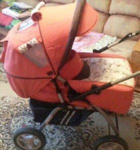 Детская коляска Geoby+развивающийся коврик+музыкал