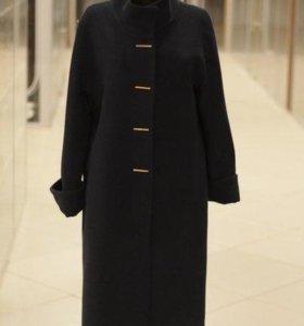 Пальто 75% шерсть синее
