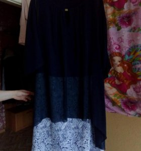 Платье с шифоном.