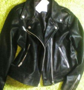 Куртка кожаная новая р. 46