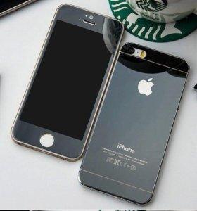 Цветные защитные стекла iPhone 5/5s/SE