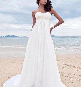 Платье свадебное, подойдёт и для пляжной фотосесси