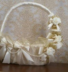 Корзина для сбора подарков для жениха или невесты