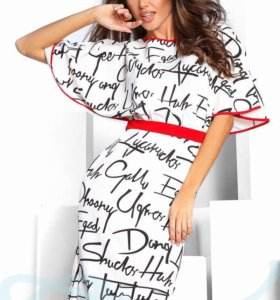 Платье с буквами
