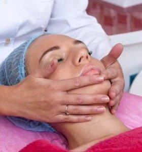 Массаж лица и шеи+альгинатная маска