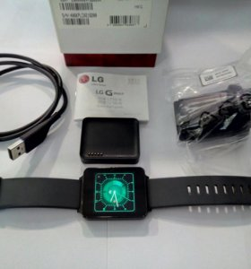 Часы LG G watch LG-W100 Black Titan