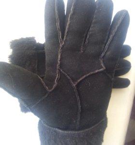 Перчатки нат. овчина мех замша