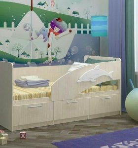 """Детская кровать """" дельфин-5"""" новая"""