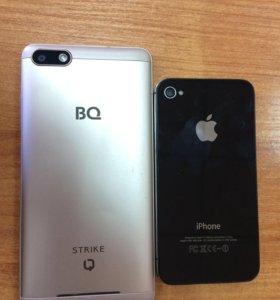 iPhone 4S(5000р)и BQ Strike(5000р)