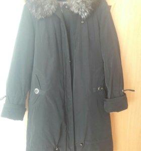 Пальто пуховое 48 размер
