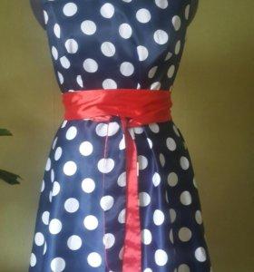 Платье летнее атласное